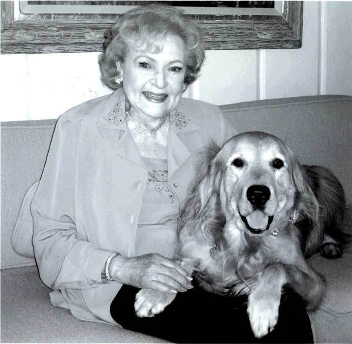 Betty White and her dog Pontiac