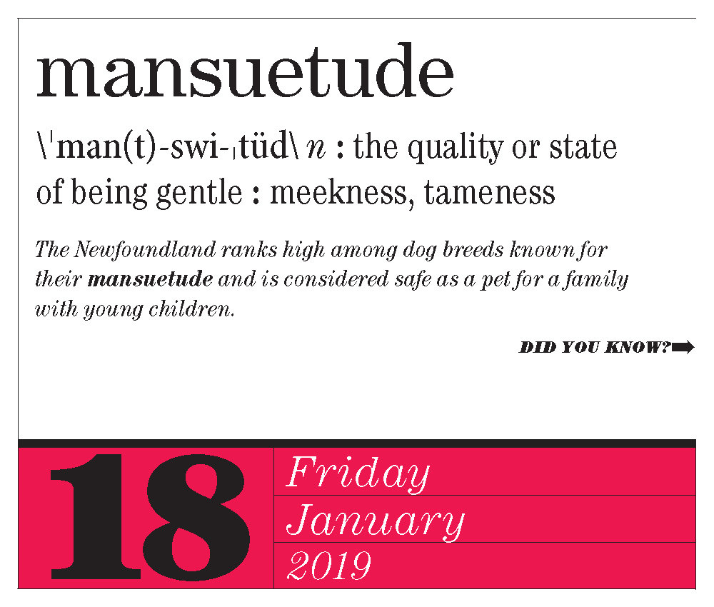 mansuetude - national thesaurus day