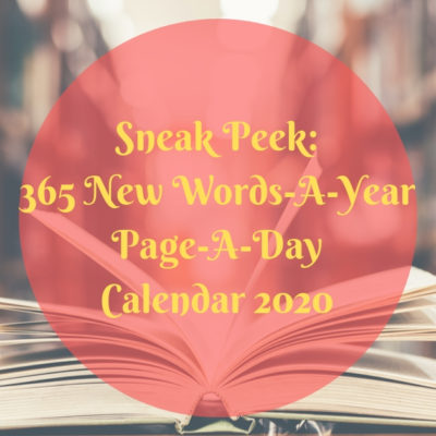 New Words 2020.Peek Inside Our 365 New Words A Year Page A Day Calendar