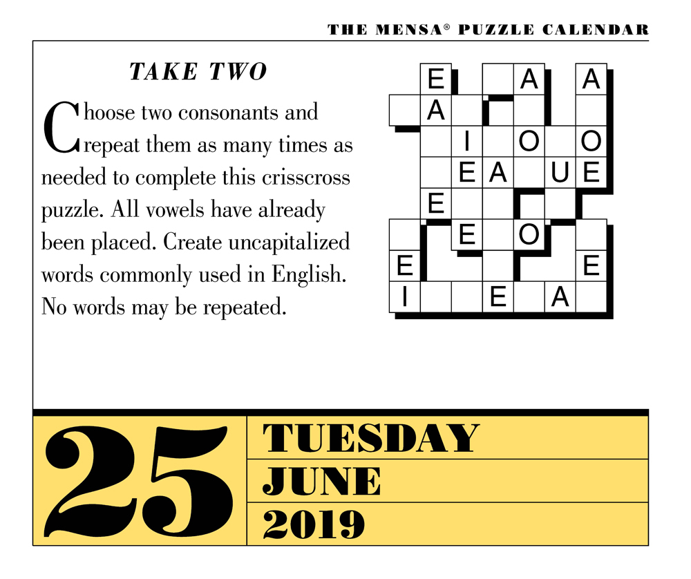 Puzzle Solutions Page-A-Day