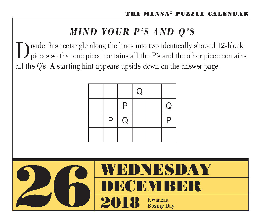 Can you solve this Mensa Puzzler?