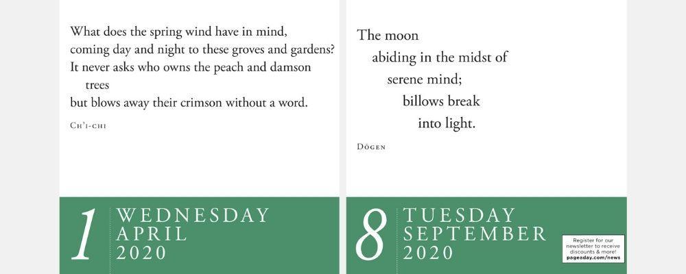 Zen Page-A-Day 2020 Calendar